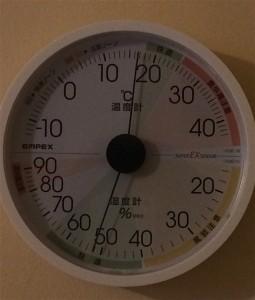 ライスフォース1回目翌朝温湿度計